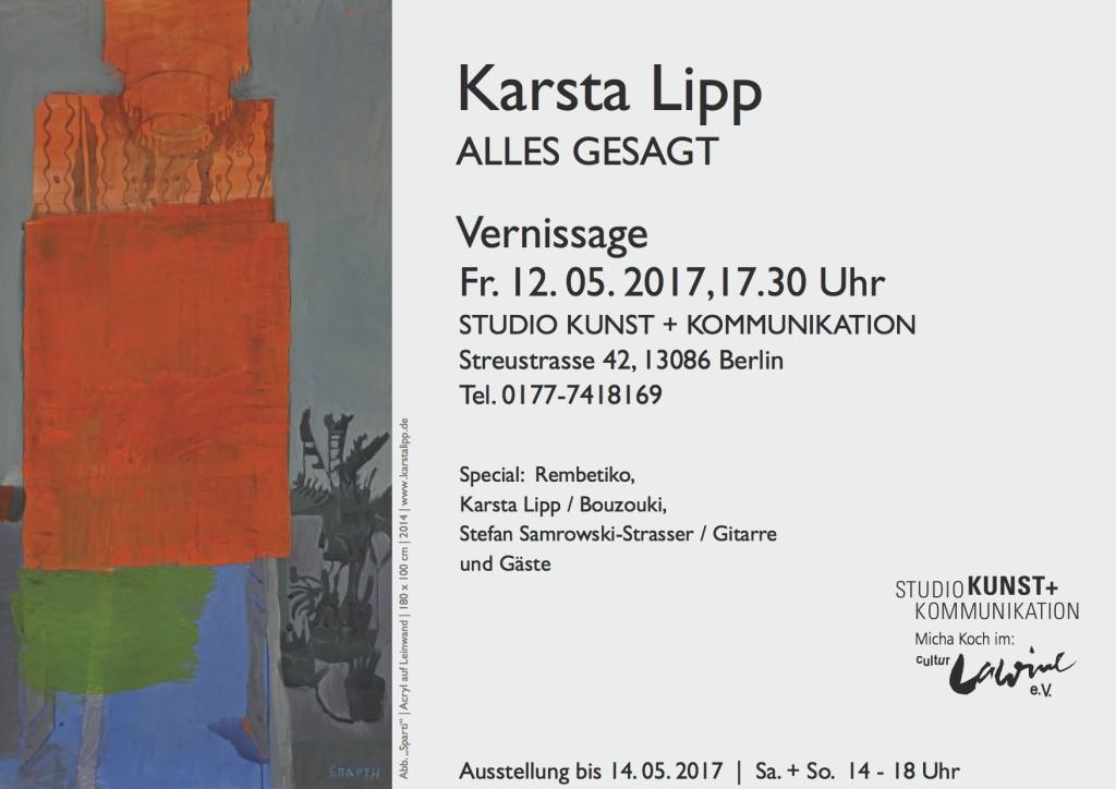 Karsta Lipp Vernissage Berlin Weißensee Streustr. 42
